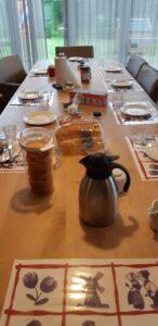 Het ontbijt staat klaar in een huis van Dagelijks Leven, thuis voor bewoners met dementie.